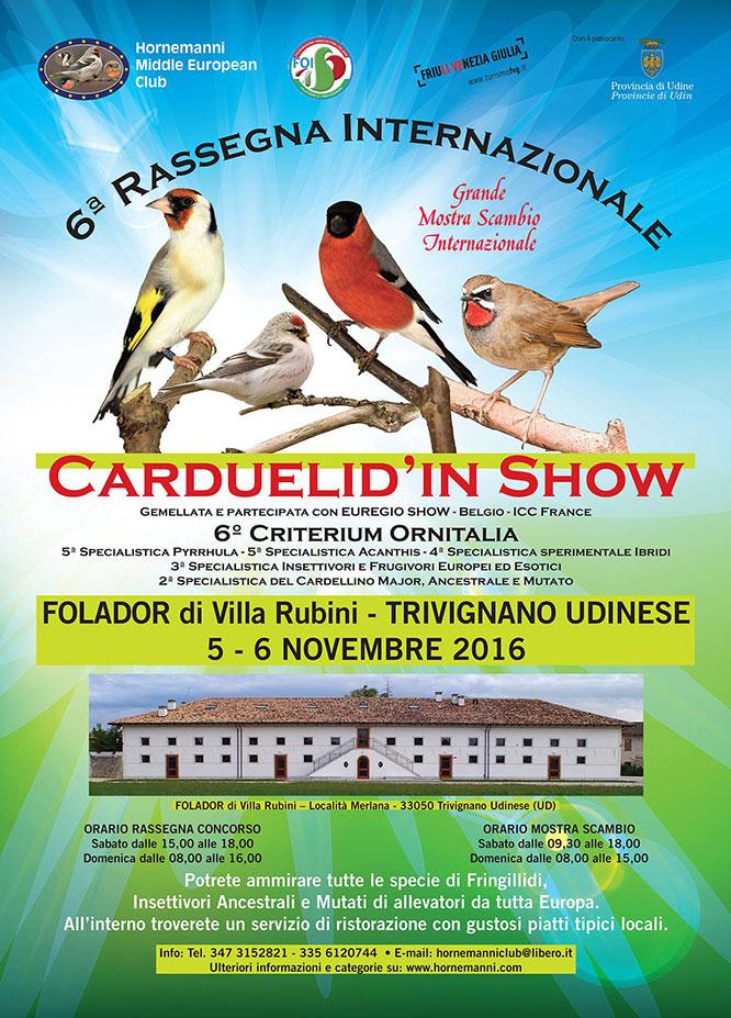 5^ Rassegna Internazionale Carduelid'in Show 2016